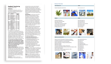 Drugs of abuse product and industry information image
